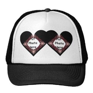 Joined Hearts Fractal Art Frame Trucker Hat