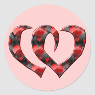 Joined Hearts T-shirts and Gifts Round Sticker