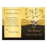 Joined Hearts Wedding Vow Renewal Program Full Color Flyer