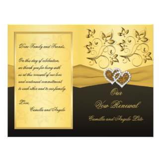 Joined Hearts Wedding Vow Renewal Program Flyer