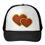 Joined Red Hearts Mesh Hat