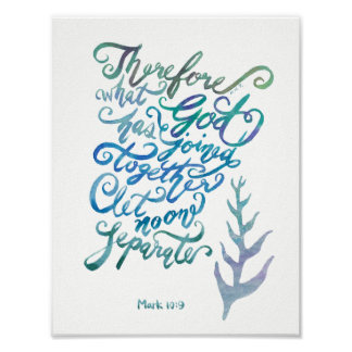 Joined Together - Mark 10:9 Poster
