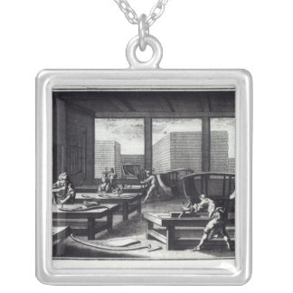 Joiner's workshop silver plated necklace