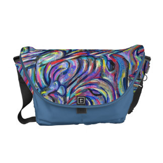 """Joining"" abstract digital messenger bag"