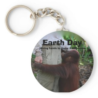 Joining Hands on Earth Day keychain