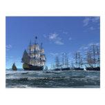 Joining the Fleet. Postcard