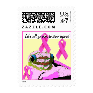 Joining the Pink Ribbon Team Postage