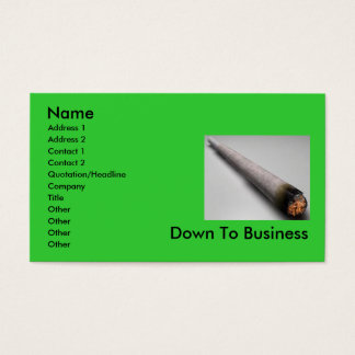 Joint buisness business card