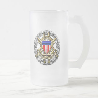 Joint Chiefs of Staff Frosted Glass Beer Mug