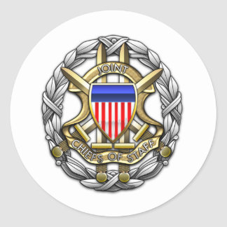 Joint Chiefs of Staff Round Stickers