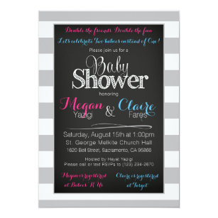 Joint baby shower invitations announcements zazzle joint coed baby shower chalkboard invitation card filmwisefo Images