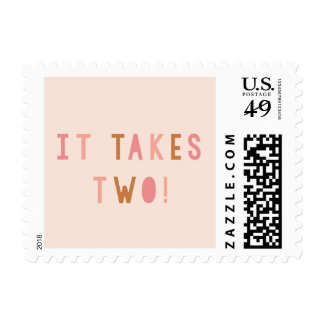 Joint Effort Baby Invitation Postage Stamp
