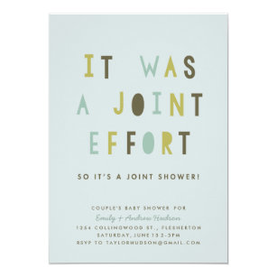 Joint baby shower invitations zazzle joint effort couples baby shower invitation filmwisefo