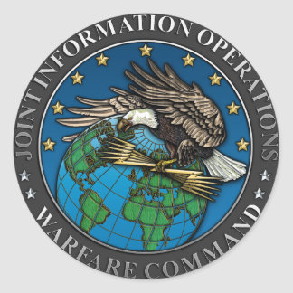 Joint Information Operations Warfare Center Classic Round Sticker