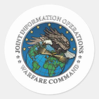 Joint Information Operations Warfare Center Round Sticker