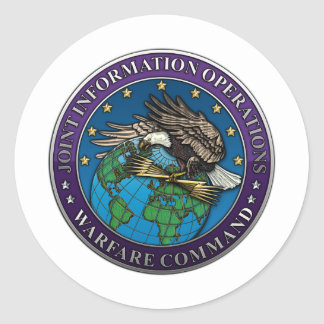 Joint Information Operations Warfare Center Round Stickers