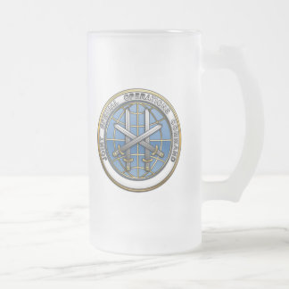 Joint Special Operations Command Frosted Glass Beer Mug