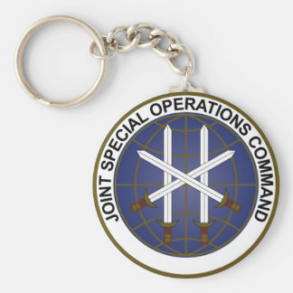 Joint Special Operations Command  JSOC Basic Round Button Keychain