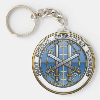 Joint Special Operations Command Basic Round Button Keychain