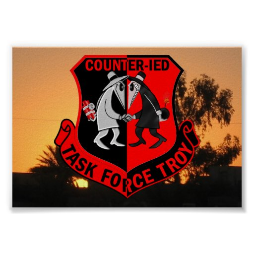 Joint Task Force TROY CIED Poster   Zazzle