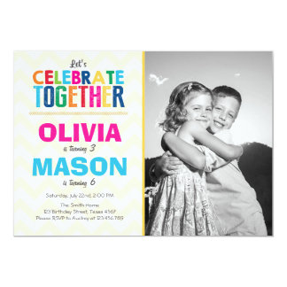 twins birthday gifts on zazzle, Birthday invitations