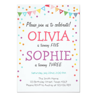 Joint Birthday Party Invitations gangcraftnet