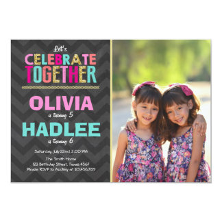 Double Birthday Party Invitations Announcements Zazzle