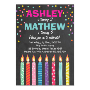 Joint Birthday Party Invitations Announcements Zazzle