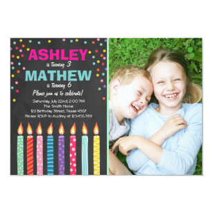 Joint birthday invitations zazzle joint twin birthday party invitation twins dual filmwisefo