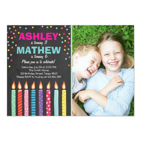 Joint twin birthday party invitation twins dual zazzle joint twin birthday party invitation twins dual filmwisefo