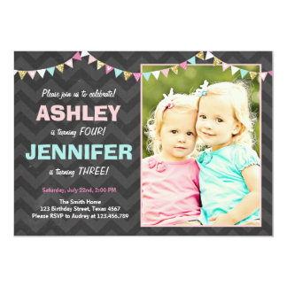 twins birthday invitations  announcements  zazzle, Birthday invitations
