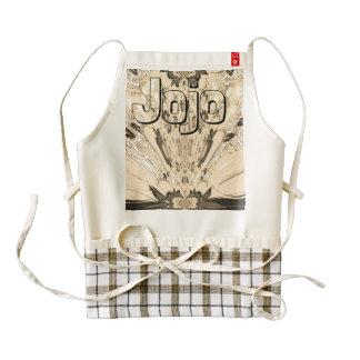 Jojo Beautiful fantastic feminine design monogram Zazzle HEART Apron