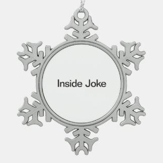 Joke.ai interior adorno de peltre en forma de copo de nieve