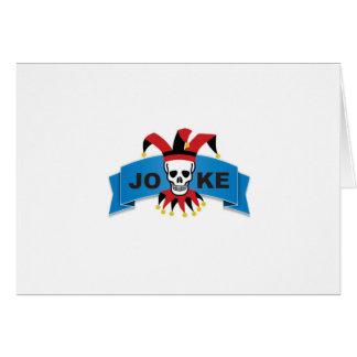 joke blue death banner card