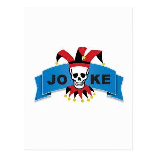 joke blue death banner postcard