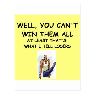joke for winners! postcard