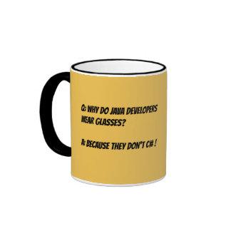 Joke mug for programmers