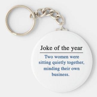 Joke of the year basic round button keychain