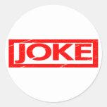 Joke Stamp Classic Round Sticker