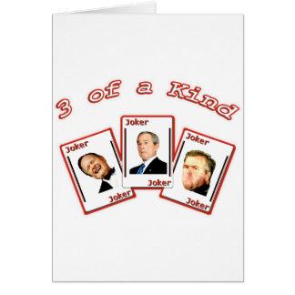 JOKER 3 Three of a Kind - George HW Dubya Jeb Bush Card