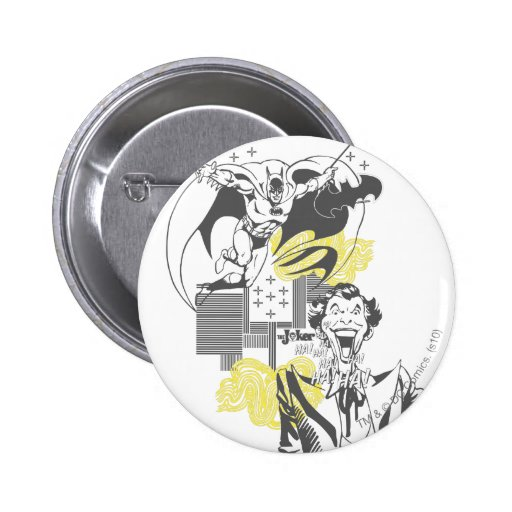 Joker and Batman Comic Collage 2 Inch Round Button