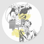 Joker and Batman Comic Collage Classic Round Sticker