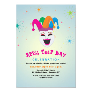 Joker April Fool's Day Invitation