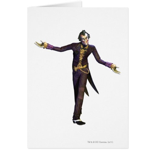 Joker Arms Out Card