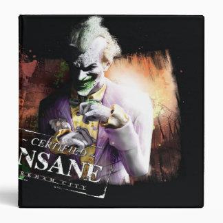 Joker - Certified Insane 3 Ring Binder