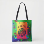 "Joker Dreams Tote Bag<br><div class=""desc"">The bright and durable tote will brighten your day.</div>"