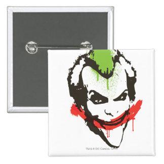 Joker Graffiti 2 Inch Square Button
