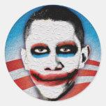 Joker Obama Classic Round Sticker