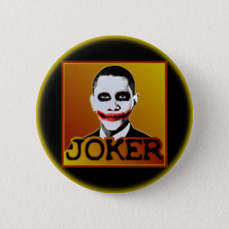 Joker Obama Pinback Button
