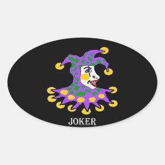 Joker Oval Sticker